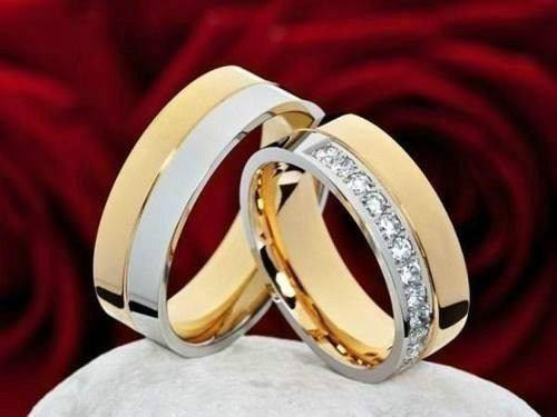 1a3b5c88b1b2 Argollas - Matrimonios- Acero-oro 18kt San Valentin 2018 -   999.990 ...
