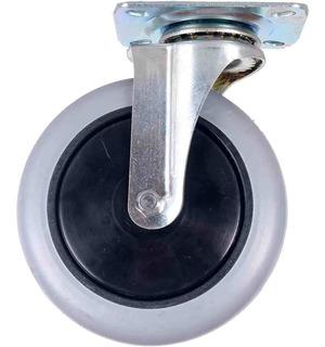 Rodizio Giratorio Silicone Com Rolamento Roda 150mm 150kg
