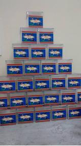 100 Sacolinhas 100 Caxinha De Acrílico 100 Tubetes