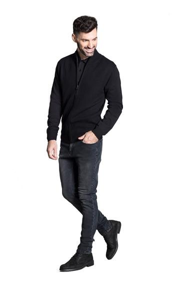 Sweater Campera Con Cuello Alto Hombre Devré