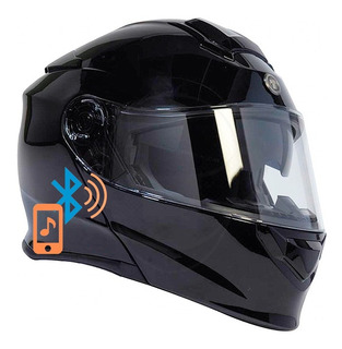 Casco Torc T28 Bluetooth Tipo Abatibl Gafas Moto Negro Brill