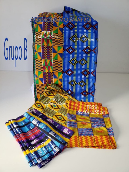 Turbantes -2 Faixas Em Tecido Africano - Grupo B