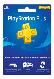 Playstation Plus 1 Año Para Jugar Online Ps4 Ps3