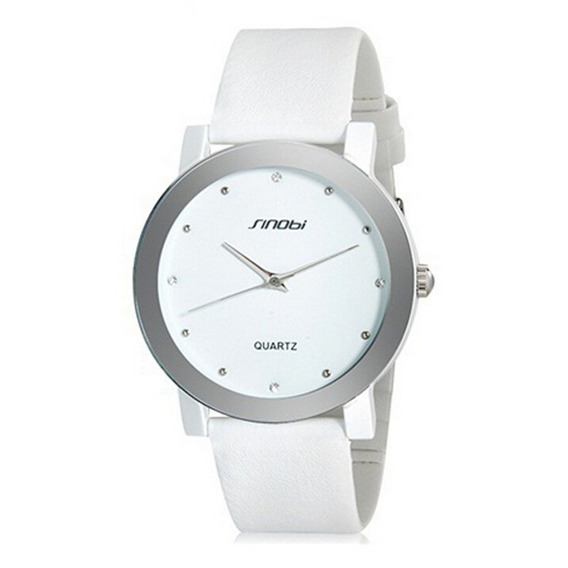 Relógio Masculino Pulso Sinobi Analógico Sin002 - Branco
