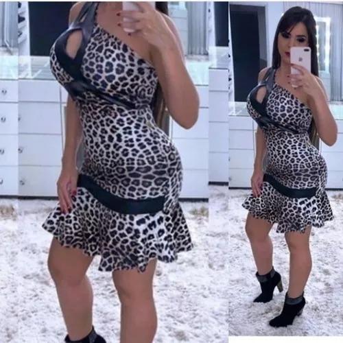 Vestido Animal Print Moda Feminina Estampa Tendência 2020