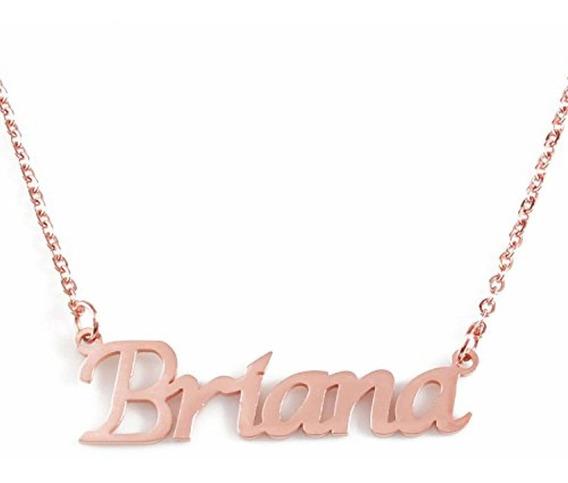 Silver Tone Zacria Kaylee Name Necklace