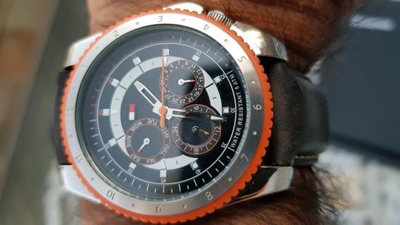 Relógio Masculino Tommy Hilfiger, Pulseira Couro Dark Blue