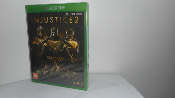 Injustice 2 Legendary Edition Xbox One Mídia Física Lacrado