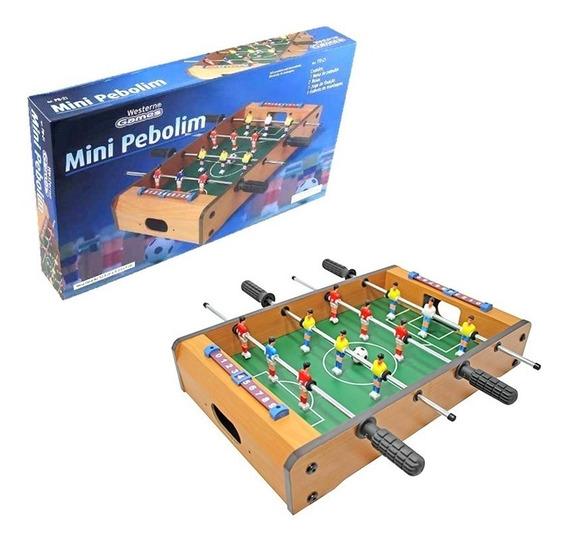 Mini Mesa De Pebolim Jogo De Futebol 50,5 X 31 X 9cm Western