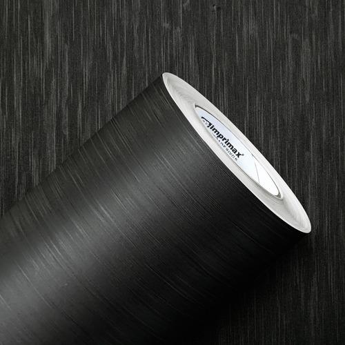 Imagem 1 de 6 de Adesivo Aço Escovado Preto  6m X 1m + 10m X 50cm Preto
