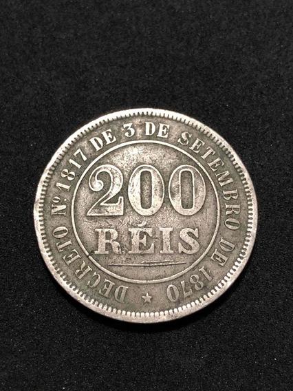 Moeda Antiga 200 Réis 1878 Império Do Brasil