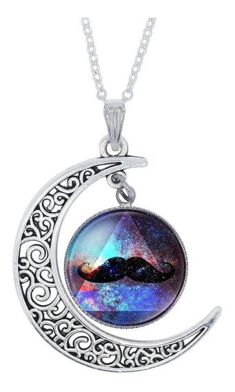 Colar Lua Universo Galáxia Nebulosa Modelo 24 E Brinde
