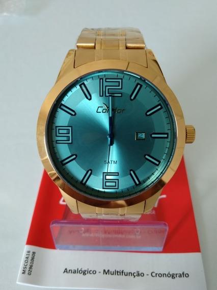 Relógio Condor Masculino Co2115xz/4a + Puls. Masc. Banho 18k