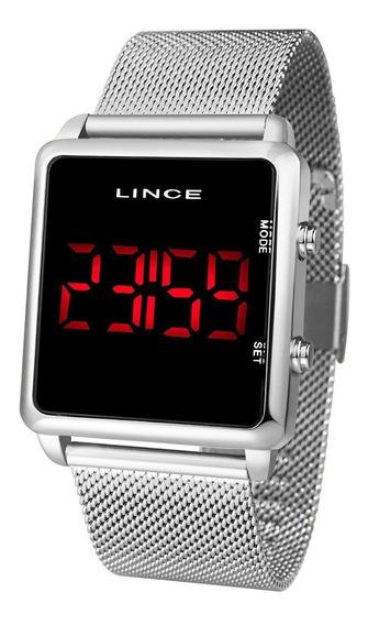Relógio Lince Prata Digital Unisex Ref: Mdn4596l Pxsx N.f