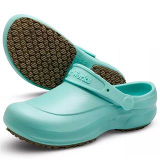 Sapato Clog Bb60 Enfermagem Antiderrapante Verde Medicina