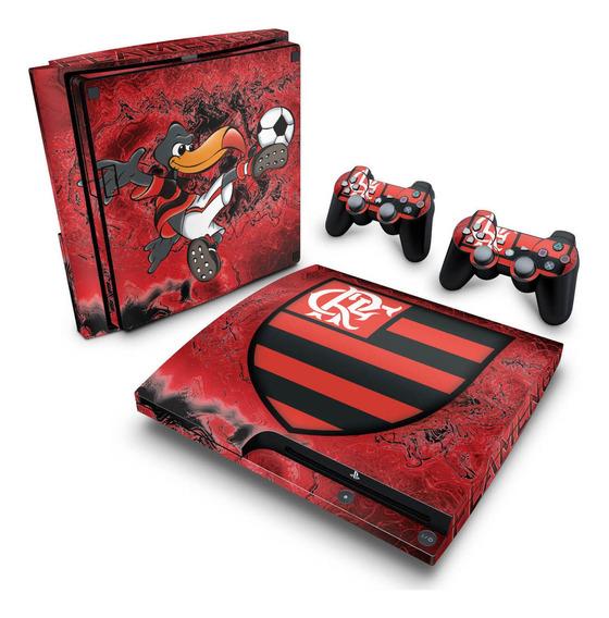 Skin Ps3 Slim Adesivo Playstation 3 Flamengo Time