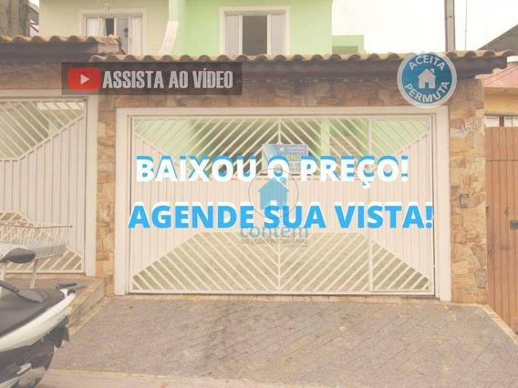 So0117- Sobrado Com 3 Dormitórios À Venda, 156 M² Por R$ 650.000 - Jardim D Abril - Osasco/sp - So0117