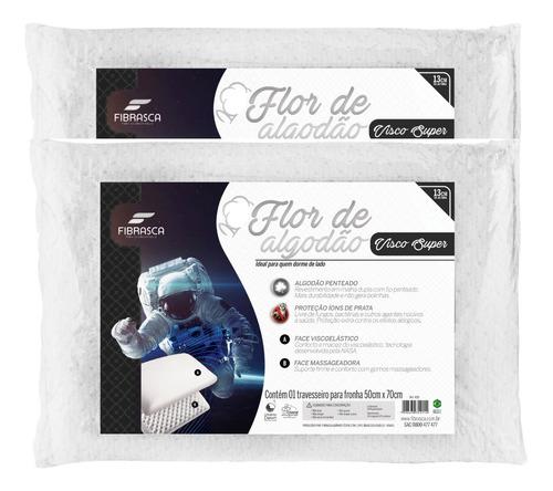 Kit Travesseiro Nasa Flor De Algodão + Íons 50x70cm Fibrasca