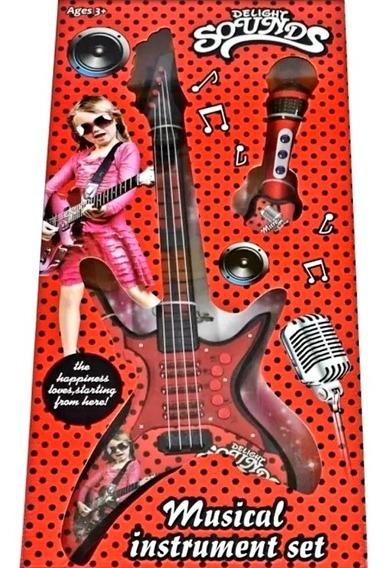 Guitarra Infantil Juguete Niña Electrónica Rock N Roll Music
