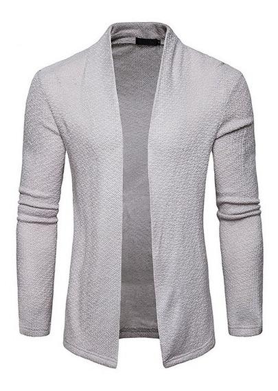 Sweater Hombre Slim Fit Abierto Delgado Ligero Moda Juvenil