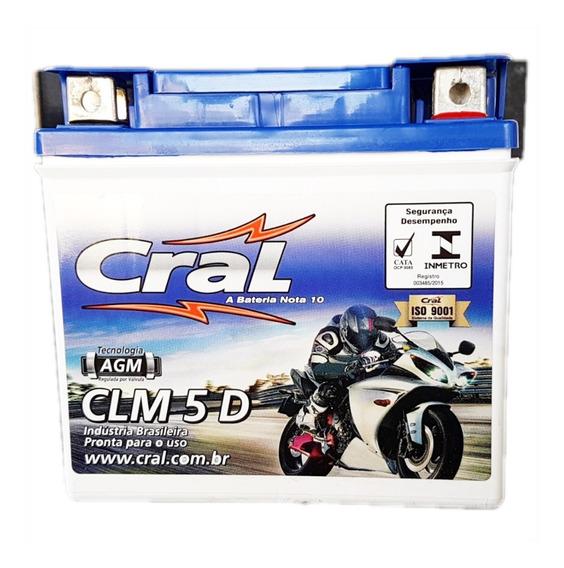 Bateria Cral Ytx5lbs Clm5d Titan Fan 150 Biz 125 Xre 300 Crf