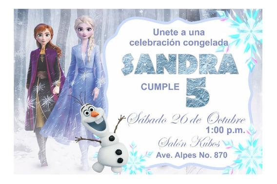 Invitacion Pizarron Cumpleaños Frozen 2