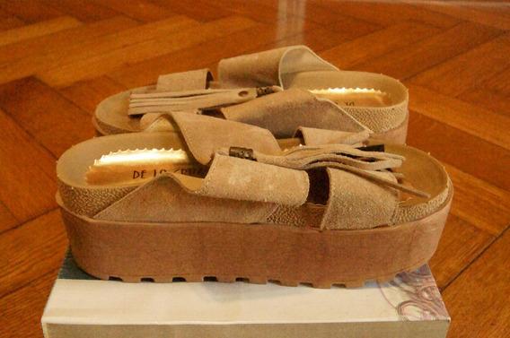 Zapatos Plataforma De La Cruz Talle 38-impecables!!