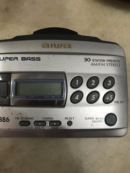 Rádio Cassete Aiwa Hs Tx386 So Teste Am-fm Fita Nao
