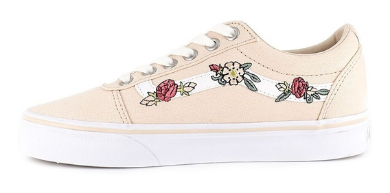 Zapatillas Vans Nena Ward Floral Embroidery Rosa