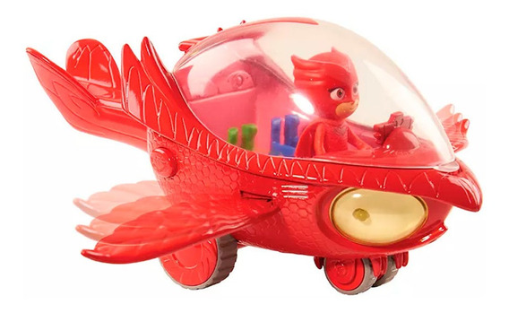 Veículo E Figura - Pj Masks - Planador Coruja Com Luzes E So