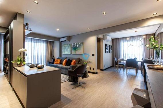 Apartamento Mobiliado A Venda Com 2 Dormitorios - Novare Alphaville - Ap2185