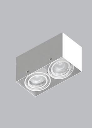 Luminária De Sobrepor Branca 2x Par16