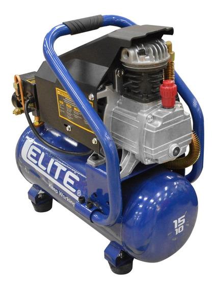 Compresor Elite 1.5 Hp Tanque 10lts 115psi 110v -7.5 Amp