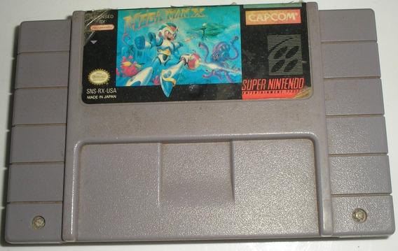 Megaman X Super Nintendo Original Usada
