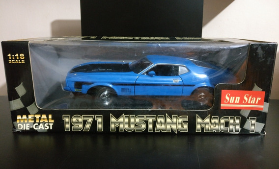 Ford Mustang Mach 1 1971 Sunstar Escala 1/18 Leer Descripcio