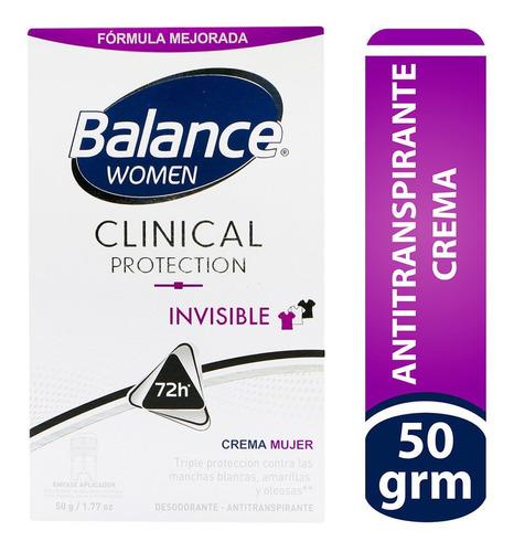 Desodorante Balance Crema Clinical Invisible Mujer 50gr