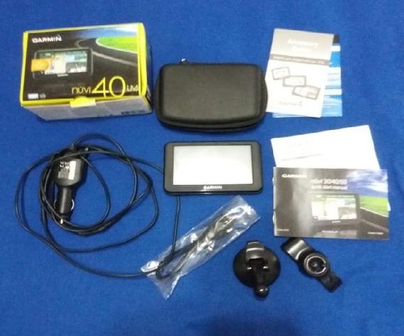 Gps Garmin Nuvi 40 Lm Con Cargador Carro+base 1 Forros 4gbsd