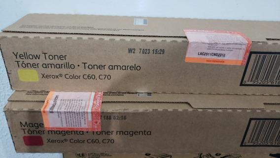 Cartucho De Toner Original Xerox C60/70 Amarelo 006r01662