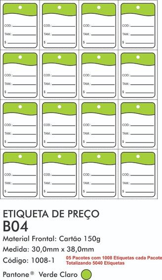 5040 Etiquetas Tag Manual Roupa Confecções - B04