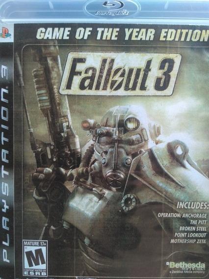 Fallout 3 Ps3 Original , Mídia Física, A Pronta Entrega