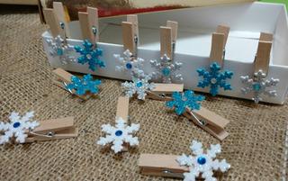Copos De Nieve Frozen Mini Broche Candy Bar Decorativo