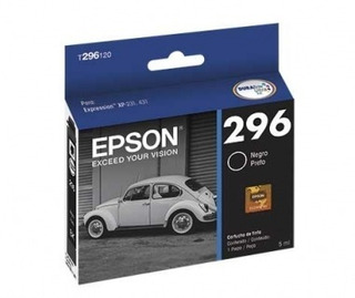 Cartucho Epson T296 Negro Original Tinta 4 Ml T296120
