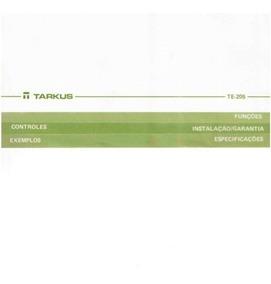 Equalizador Tarkus Te-205 - Manual / Digital