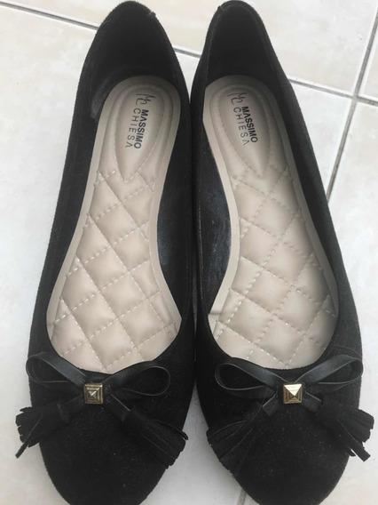 Zapatos Chatitas Mujer Nro 38 Massimo Chiesa Impecables