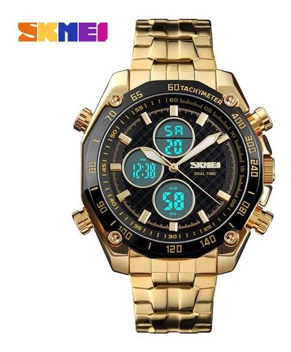 Relógio Digital Skmei 1302 Pulseira De Aço Inoxidável