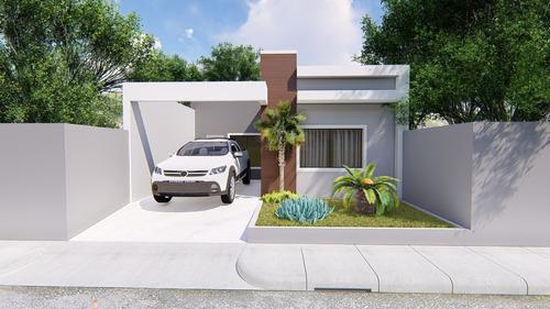 Planta De Casa 2 Quartos - Projeto Arquitetônico Completo