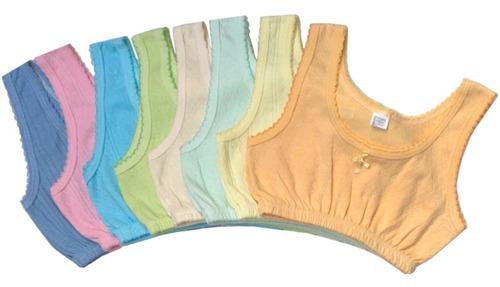 Imagen 1 de 9 de Paquete 6 Corpiños Rombo Colores Para Niña Talla 8 A 16