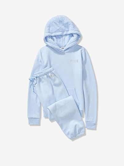 Sudadera Y Pants Gift Set Azul Victorias Secret Original