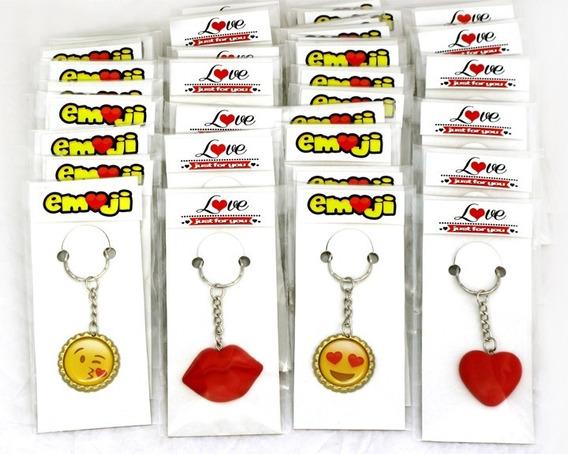 48 Llaveros Emoji Corazón Besos Amor 14 De Febrero