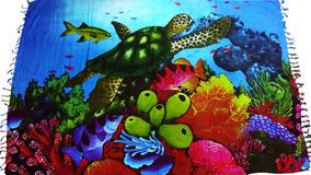 Canga De Praia Fundo Do Mar Golfinhos Peixes Vários Modelos